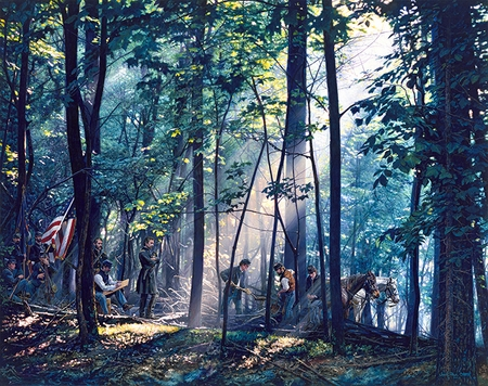 """John Paul Strain Hand Signed and Numbered Limited Edition Giclee:""""Sacred Ground on Little Round Top"""""""