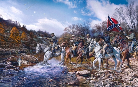 """John Paul Strain Hand Signed and Numbered Limited Edition Print:""""Charge Across the Harpath"""""""