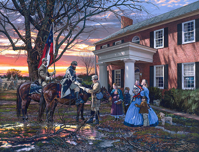 """John Paul Strain Hand Signed and Numbered Limited Edition Giclee:""""Evening Orders in Strasburg"""""""