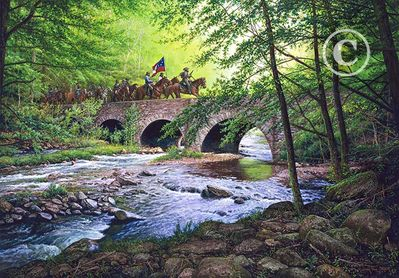 "John Paul Strain Hand Signed and Numbered Limited Edition Giclee:""Goose Creek Bridge"""