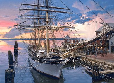 """John Paul Strain Hand Signed and Numbered Limited Edition Giclee:""""Hampton Roads, The"""""""