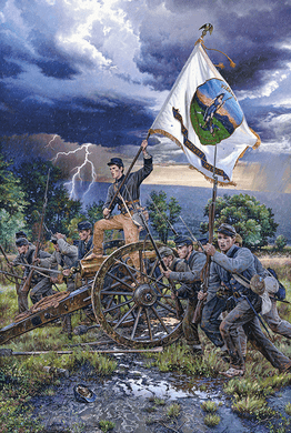 """John Paul Strain Hand Signed and Numbered Limited Edition Giclee:""""In War A Tower Of Strength"""""""