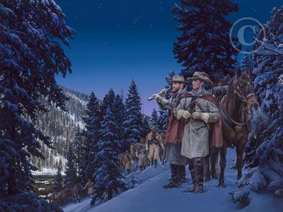 """John Paul Strain Hand Signed and Numbered Limited Edition Giclee:""""Starlight Raid"""""""