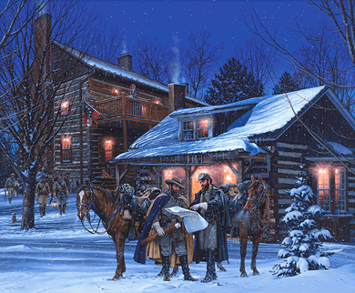 """John Paul Strain Hand Signed and Numbered Limited Edition Giclee Print:""""Headquarters at Narrow Passage"""""""