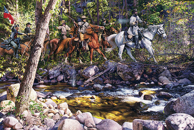 """John Paul Strain Hand Signed and Numbered Limited Edition Giclee:""""Skirmish At Toms Brook"""""""