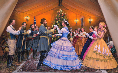 """John Paul Strain Hand Signed and Numbered Limited Edition Giclee:""""The Virginia Reel"""""""