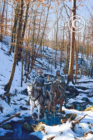 """John Paul Strain Hand Signed and Numbered Limited Edition Giclee:""""Winter Shadows of 1862"""""""