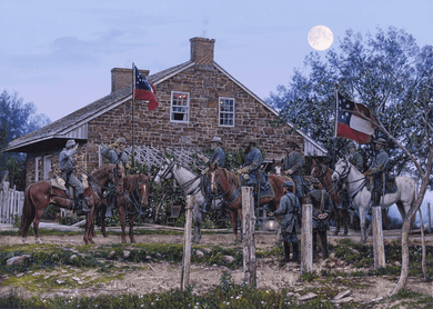 "John Paul Strain Hand Signed and Numbered Limited Edition:""Headquarters, Gettysburg"""