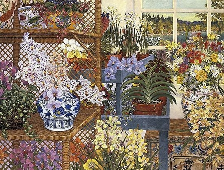 """John Powell Hand Signed and Numbered Limited Edition Serigraph on Paper:""""Greenhouse on Toddy Pond"""""""