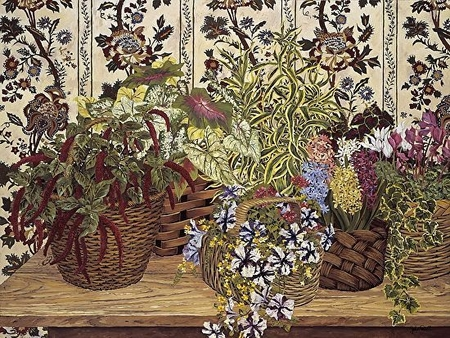 """John Powell Hand Signed and Numbered Limited Edition Serigraph on Paper:""""Wicker Baskets"""""""