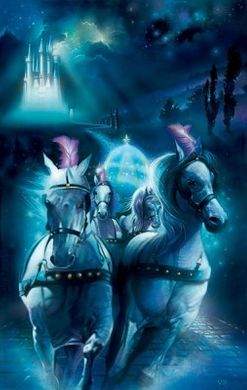 """John Rowe Hand Signed and Numbered Limited Edition Giclee on Canvas:"""" Racing Midnight - Cinderella """""""