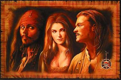 """John Rowe Hand Signed and Numbered Limited Edition Giclee on Canvas:"""" What is a Pirate? - Pirates of the Caribbean"""""""