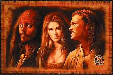 "John Rowe Hand Signed and Numbered Limited Edition Giclee on Canvas:"" What is a Pirate? - Pirates of the Caribbean"""