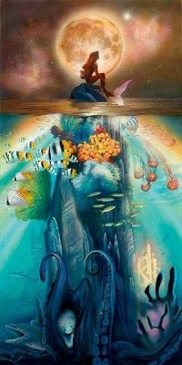 """John Rowe Handsigned and Numbered Limited Edition Giclee on Canvas:""""Fathoms Below"""""""