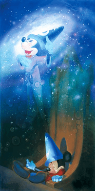 """John Rowe Signed and Numbered Giclée on Canvas: """"The Flight to Fantasy"""""""