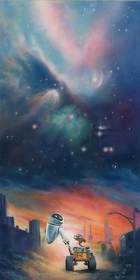 "John Rowe Signed and Numbered Hand-Embellished Giclée on Canvas: ""The Depth of Space and Love"""