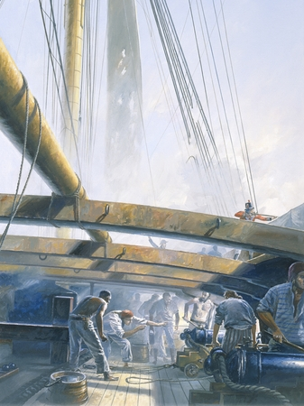 """Geoff Hunt Artist Signed Limited Edition Giclee Print:""""The Fortune of War"""""""