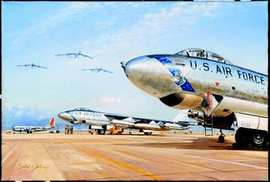 """John Young Hand Signed and Numbered Limited Edition: """"Cold War Warriors"""""""
