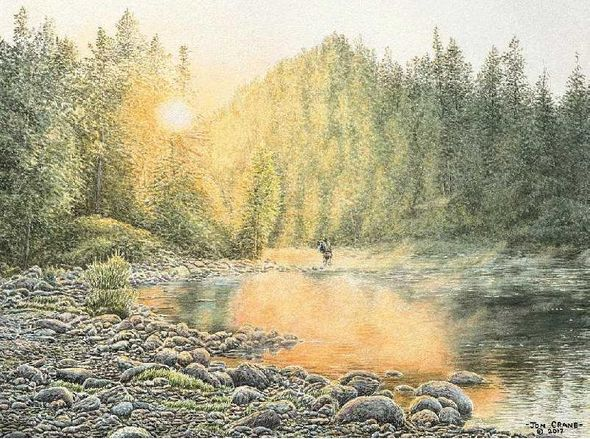 """Jon Crane Hand Signed and Numbered Artist Proof Giclee Print on Paper:""""Catching the Light"""""""