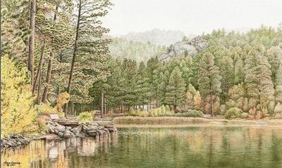 """Jon Crane Artist Signed and Numbered Limited Edition Giclee on Paper:""""Be Still My Soul"""""""