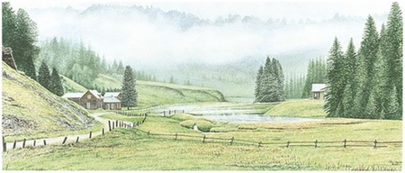 """Jon Crane Handsigned & Numbered Limited Edition Giclee on Paper:""""Unto The Hills"""""""
