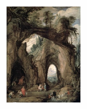 """Joos De Momper the Younger Fine Art Open Edition Giclée:""""Gypsies in the Mountains"""""""
