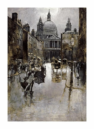 """Joseph Pennell Fine Art Open Edition Giclée:""""West Front of St Paul's from Ludgate Hill"""""""