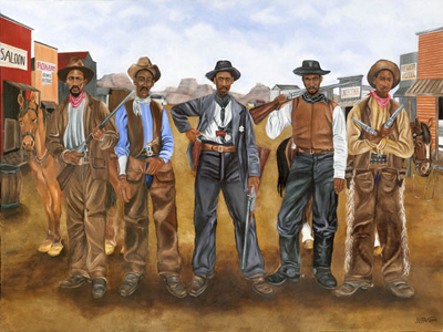 "Juda Ward Limited Edition Fine Art Print :""Five Gun Justice"""