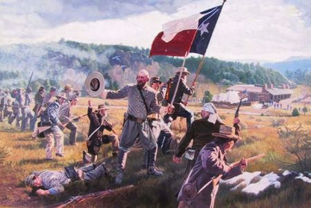 "Wayne Justus Limited Edition Canvas Giclee Print:""Battle of Glorieta"""