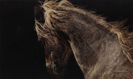 """Judy Larson Handsigned and Numbered Limited Edition :""""Fire and Flight"""""""