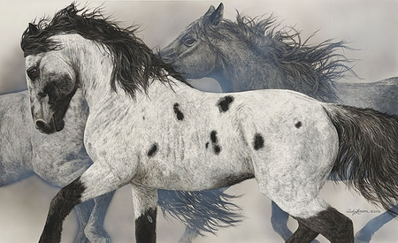 """Judy Larson Handsigned and Numbered Limited Edition:""""The Ghost Wind"""""""