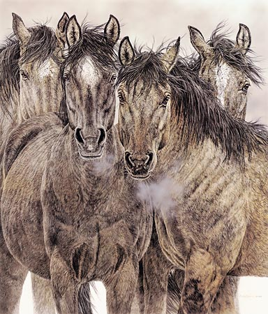 """Judy Larson Handsigned & Numbered Limited Edition Print:"""" Pryor Commitment"""""""