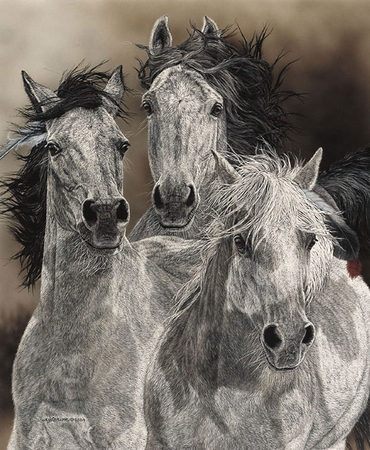 """Judy Larson Handsigned & Numbered Limited Edition Print:""""The Defiant"""""""
