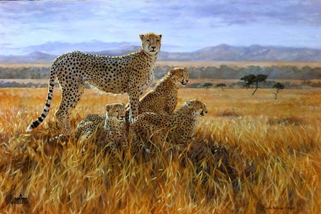 """Julia Rogers Handsigned and Numbered Limited Edition Canvas: """"A Vantage Point"""""""