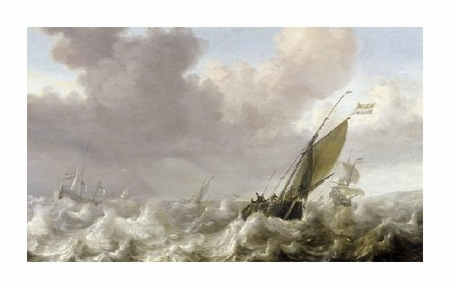 "Julius Porcellis Fine Art Open Edition Giclée:""Dutch Windships"""
