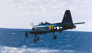 """K. Price Randel Handsigned and Numbered Limited Edition Museum Quality Canvas Giclée: """"Fireball on Final"""""""