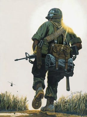 """K. Price Randel Handsigned and Numbered Limited Edition Museum Quality Canvas Giclée: """"Grunt"""""""