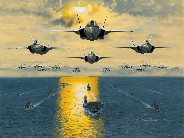 """K. Price Randel Handsigned and Numbered Limited Edition Museum Quality Canvas Giclée: """"Leading the Fleet"""""""