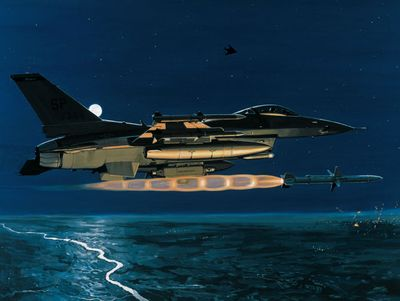 """K. Price Randel Handsigned and Numbered Limited Edition Museum Quality Canvas Giclée: """"Magnum - Operation Allied Force"""""""