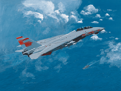 "K. Price Randel Handsigned and Numbered Limited Edition Museum Quality Canvas Giclée: ""Tomcat"""
