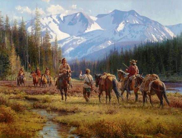 "Martin Grelle Hand Signed and Numbered Limited Canvas Giclee:""A Cautious Encounter"""