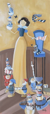 "Katie Kelly Hand Signed and Numberd Limited Edition Giclee on Canvas:""Cleaning Up"""