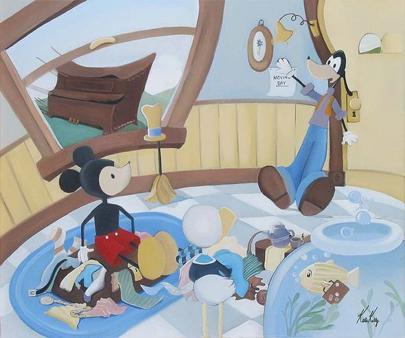 """Katie Kelly Hand Signed and Numberd Limited Edition Giclee on Canvas:"""" Moving Day"""""""
