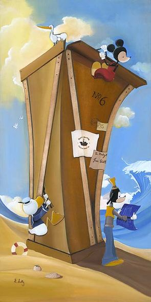 """Katie Kelly Handsigned and Numbered Limited Edition Disney Fine Art Canvas Giclee:""""Boat Builders"""""""