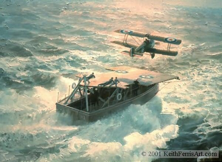 """Keith Ferris Handsigned and Numbered Limited Edition :""""Just Airborne, At Sea"""""""