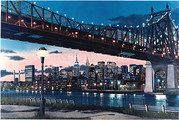Ken Keeley Limited Edition Giclee On Canvas59th St Bridge
