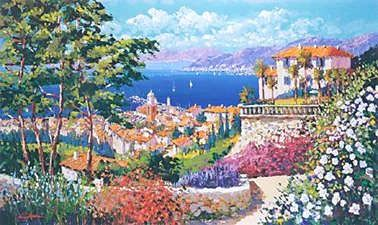 """Kerry Hallam Handsigned & Numbered Limited Edition Serigraph:""""Chemin De Soleil """""""