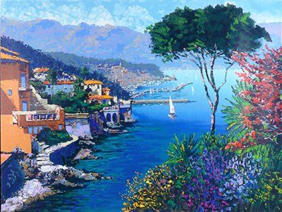 """Kerry Hallam Handsigned & Numbered Limited Edition Serigraph:""""Eternal Riviera """""""