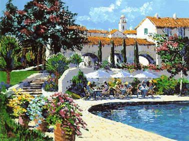 """Kerry Hallam Handsigned & Numbered Limited Edition Serigraph:""""Montecito """""""