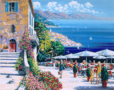 """Kerry Hallam Handsigned & Numbered Limited Edition Serigraph on Paper:""""Café de la Ramparts"""""""